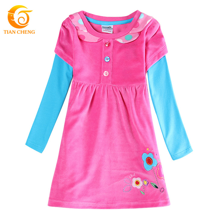 New Arrival Spring And Winter Kids Dress Casual Cotton Long Sleeve Dress Child Robe Adolescente Ropa Ninas 2015 Invierno(China (Mainland))