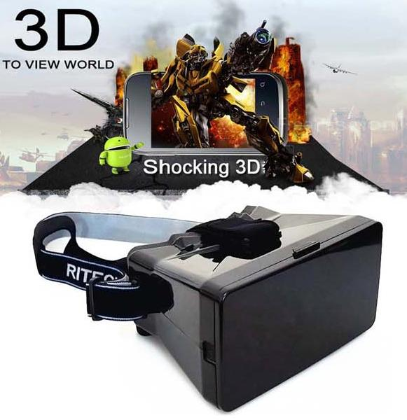 """New Universal Virtual Reality 3D Video Glasses for 3.5-5.6"""" Phone Google Cardboard(China (Mainland))"""