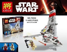 LELE 79204 Star Wars T-16 Battleplane Bricks Action Figure Minifigure Building Block Bricks Toys Compatible With Lego