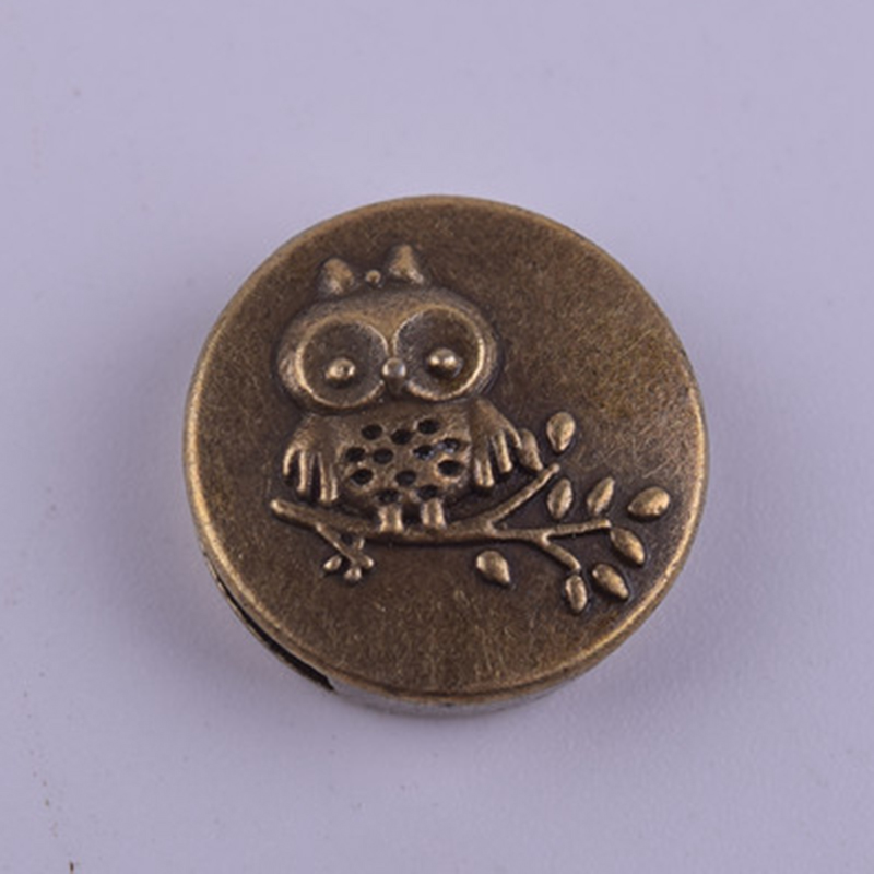 50Pcs/Lot zinc alloy beads big hole owl shaped diy beads jewelry making material finding supplier in China 2016(China (Mainland))