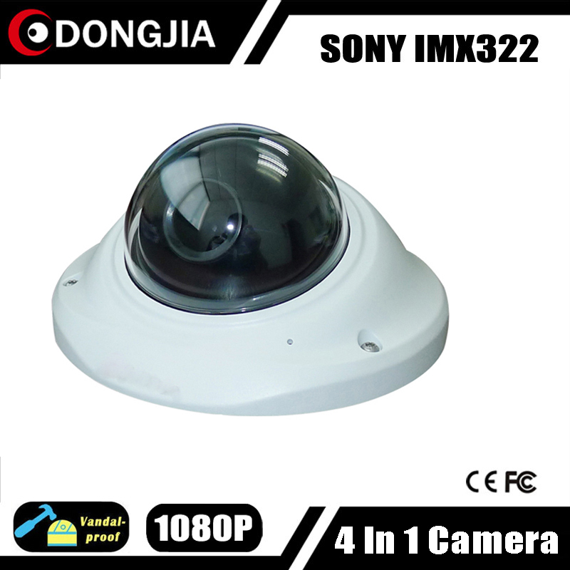 DONGJIA DJ-TCA2034 Vandal-proof Mini Home Indoor 1080P 2.0 MP 4 in 1 AHD HDCVI HDTVI CVBS CCTV Camera V30+IMX322 2.8mm Lens(China (Mainland))