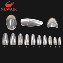 ABS Flase Nail Art Tips French Style 500pcs Oval Nails Clear Full Cover Nails False Nail  Beauty FreeShipping