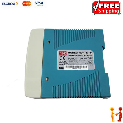 Mini Size 20w Din Rail Type 24v Power Supply MDR-20-24 1A with CE Approved Single Output<br><br>Aliexpress