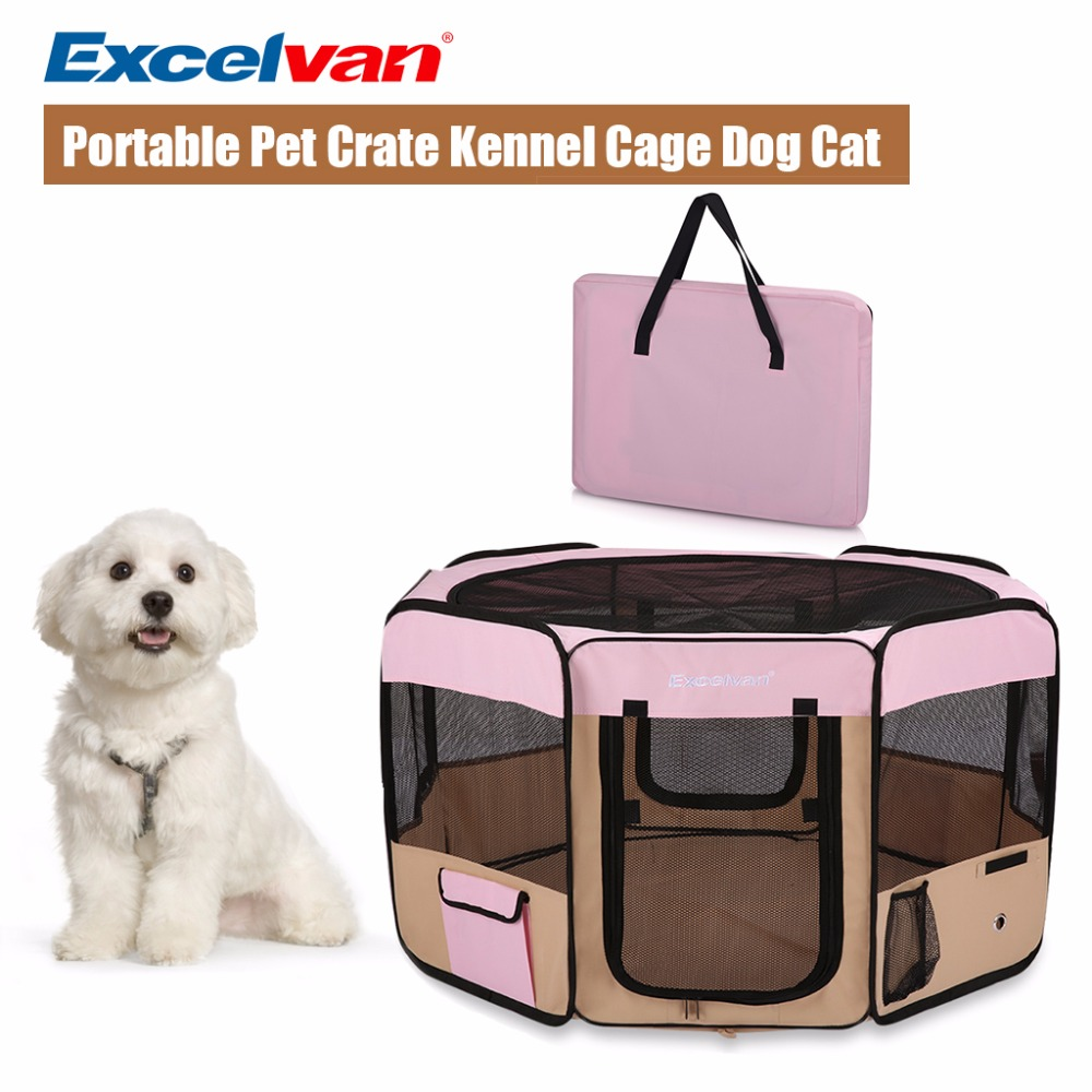 Excelvan Dog Carrier Cage Oxford Portable Soft Pet Puppy Tent Kennel Cat Playpen Fabric Foldable Traveling Flight Case M L Size(China (Mainland))