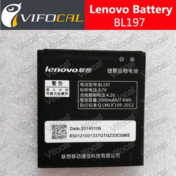 Lenovo A800 Battery 100% Original BL197 for LENOVO A820 A820T S720 S720i A798T S889T S868T S899T S750 S889 S870e 2000mAh(China (Mainland))