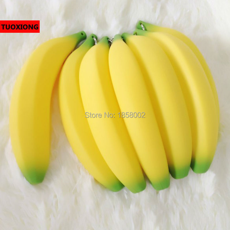 novelty banana pencil case kawaii bag rubber coin purse office school supplies stationery Creative children Gifts - TUOXIONG store