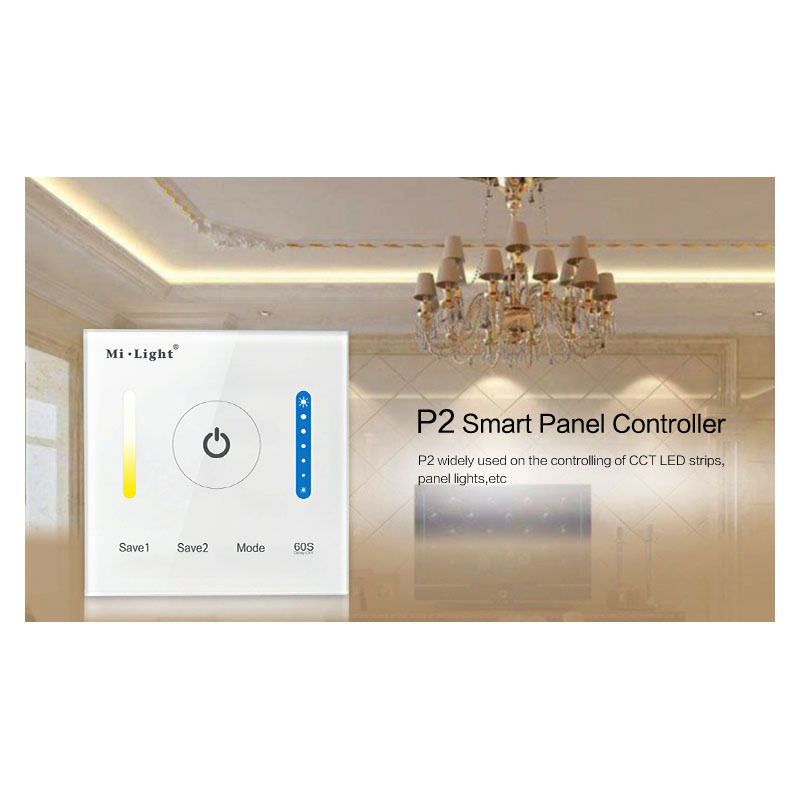 New Milight P2 Panel Led Controller Touch Switch Panel Brightness and color temperature Led Dimmer for Led Strip, Panel Lights(China (Mainland))