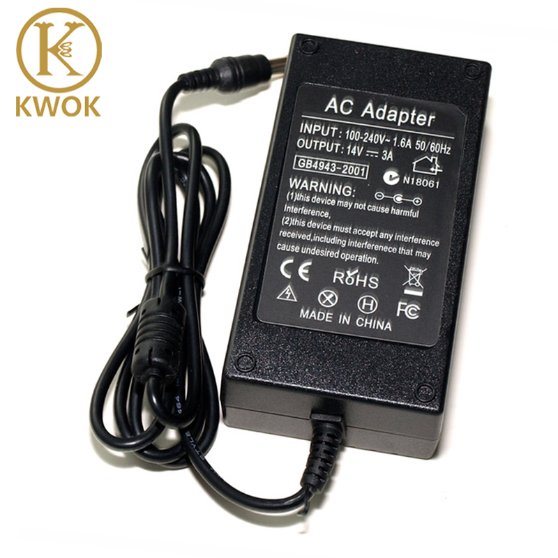 Power Supply 14V 3A AC Adapter Charger For Samsung LCD Monitor A2514_DPN A3014 AD-3014B B3014NC SA300 SA330 SA350 B3014NC F50(China (Mainland))