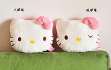 NEW Creative Japan Cartoon Hello KT Shaped Plush Neck Pillow Car Decoration kitty Cat Stuffed Plush Travel Pillow cushion(China (Mainland))