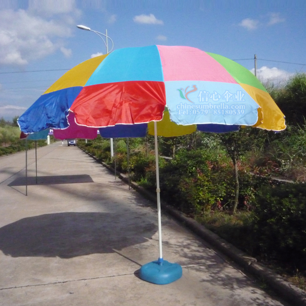 Professional customize the lettering anti-uv outdoor big beach advertising umbrella sun protection umbrella(China (Mainland))