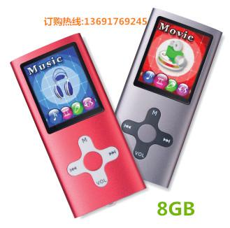Qinkar 8GB sport MP3 slim music player cross button metal housing 1.8inch screen record ebook video MP3 player(China (Mainland))