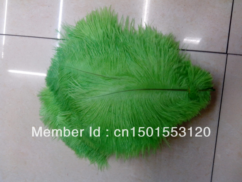 "Free shipping Wholesale 100pcs/lot 6-8"" 15-20cm Apple Green Ostrich Feather Plume ostrich feathers ostrich drab feathers(China (Mainland))"