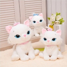 1pc 18CM Selling Product Cute Aristocats Cat Marie Plush Toys Anime Animal Paw Kit Doll For Girls(China (Mainland))