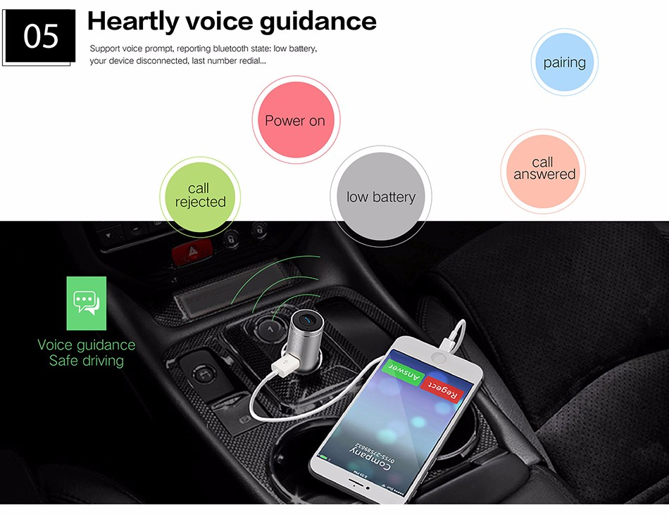 OVEVO Q8 CAR CHARGER HEADSET 201932 23