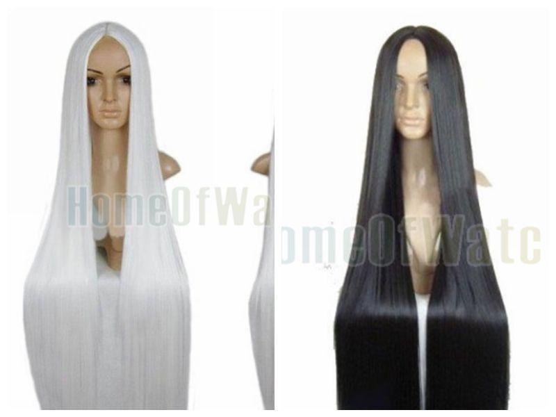 Hakuouki Okita Jay standard 40 Inches 100cm long Black/white hair wig Cosplay costume anime wigs (NWG0CP60920)(China (Mainland))