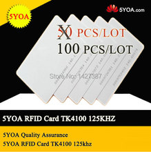 5YOA Quality Assurance EM ID CARD RFID CARD 4100/4102 reaction 125KHZ RFID Card ID Card fit for Access Control Time Attendance(China (Mainland))