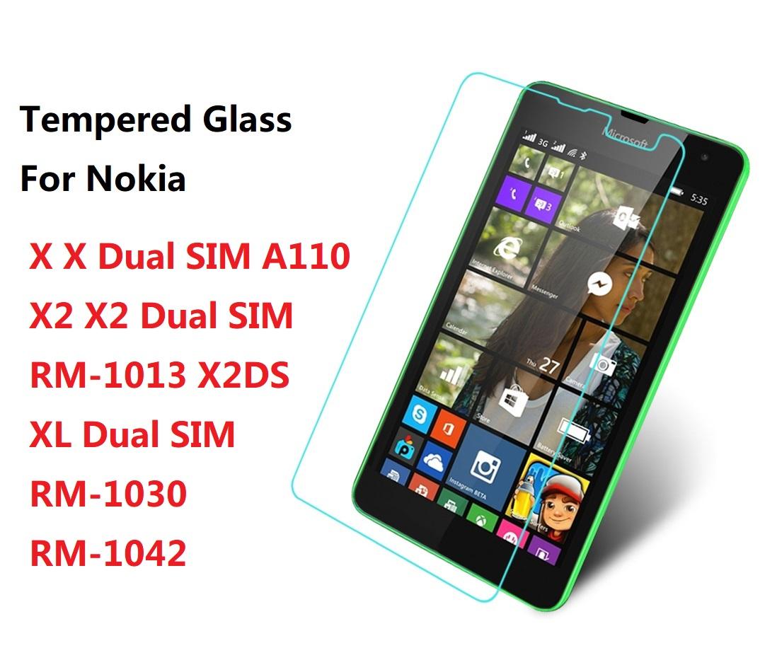 Explosion Proof Premium Tempered Glass Film Screen Protector Case For Nokia X Dual SIM XL Dual SIM X2DS RM-1030 1042 Case Nokia(China (Mainland))