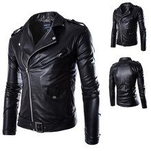 hot new winter jacket men fashion men's motorcycle clothing coat jacket 2015 high quality leather jackets free shipping(China (Mainland))
