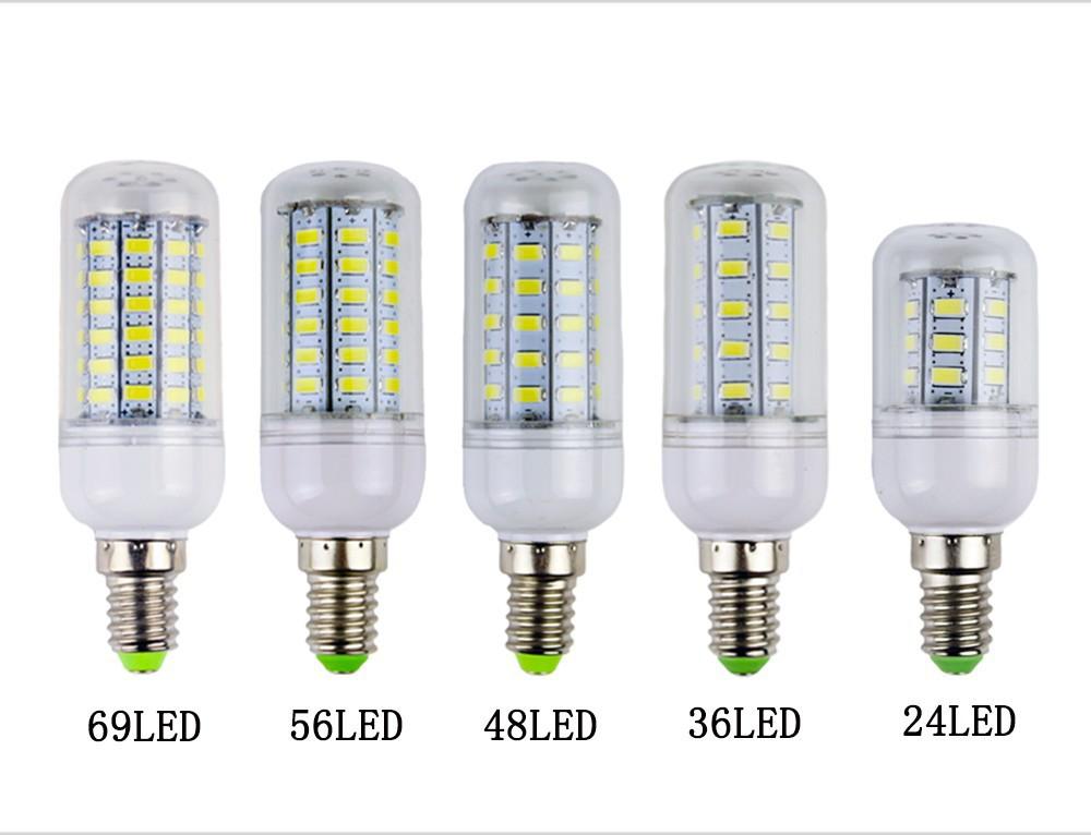 Fluorescent lamp E14 E27 B22 LED Led Lamps 5730 110V 7W 12W 15W 18W 20W 25W LED Corn Bulb Christmas Chandelier Candle Lighting(China (Mainland))
