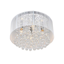 Contemporary Ceiling Light Simple Crystal Ceiling Lamp Drum Shape Flush Mount Lighting Dining Room Lighting Decor(China (Mainland))