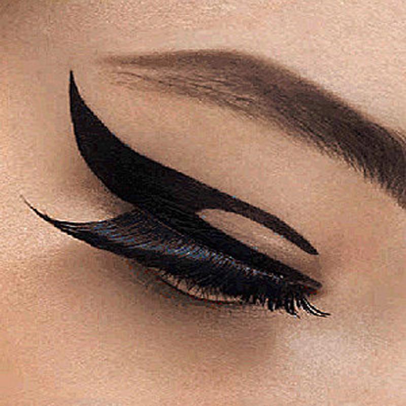 5pairBlackEye Line Waterproof Art Tattoos Temporary Stickers Eye Liner For Women DIY Decorations Fake Body Art Makeup EyeLiner(China (Mainland))