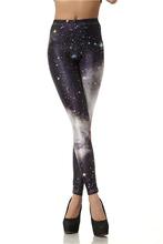 Black milk Women leggins 3D  Digital Van Gogh Starry Night Galaxy Print Leggings for Women 2015 New Drop Shipping KDK1019(China (Mainland))