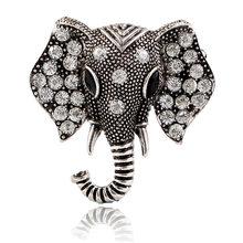 Mimpi Permen Vintage Berlian Imitasi Gajah Bros untuk Wanita Mantel Aksesoris Kreatif Perhiasan Kristal Bros Pin 2019 Gaya Baru(China)