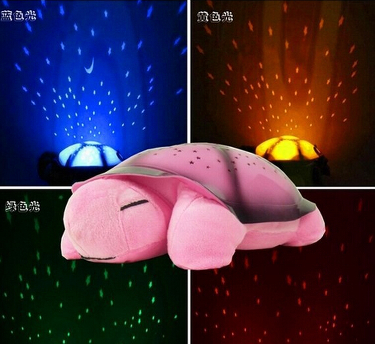 Turtle night light+USB Music projector 4 Colors 4 Songs star lamp for Children gift comfortable lighting baby bedroom decoration(China (Mainland))