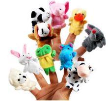 10 pcs/set Cartoon Animal Velvet Finger Puppet Finger Toy Finger Doll Baby Cloth Educational Hand Toy Story(China (Mainland))