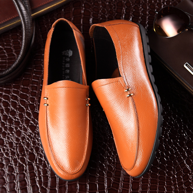 Brand new men casual shoes men flat Genuine leather shoes comfortable soft leather driving shoes man breathable male Doug shoes(China (Mainland))