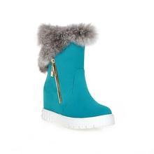 Nueva Felpa Botas Cuñas Ocultos Plataforma de Nieve Botas de Piel de Nieve zapatos de Mujer Zapatos 2016 zapatos de Tacón Alto de Invierno Mantener Caliente Invierno botas(China (Mainland))