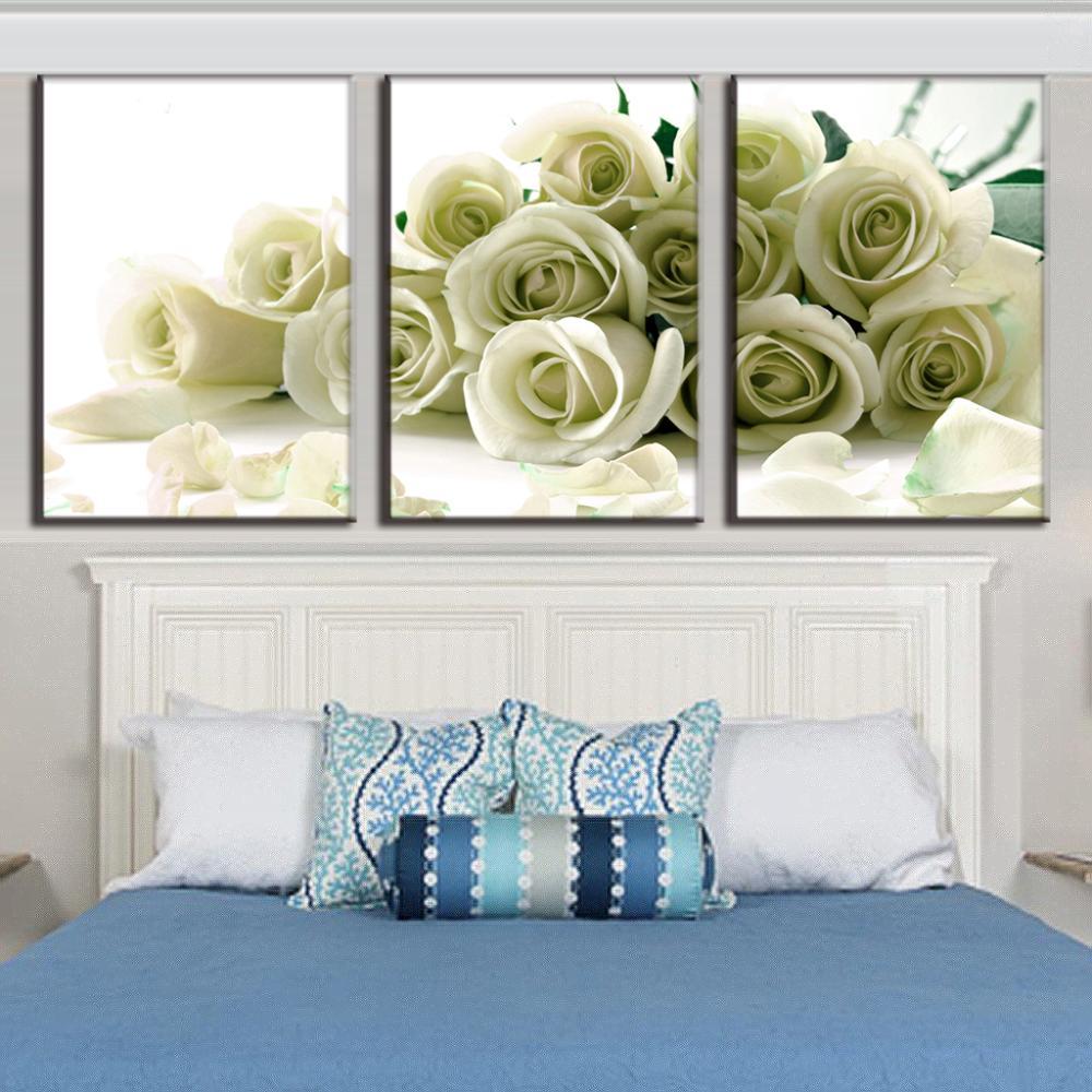3 pcs set brand hot sale canvas picture flower painting. Black Bedroom Furniture Sets. Home Design Ideas