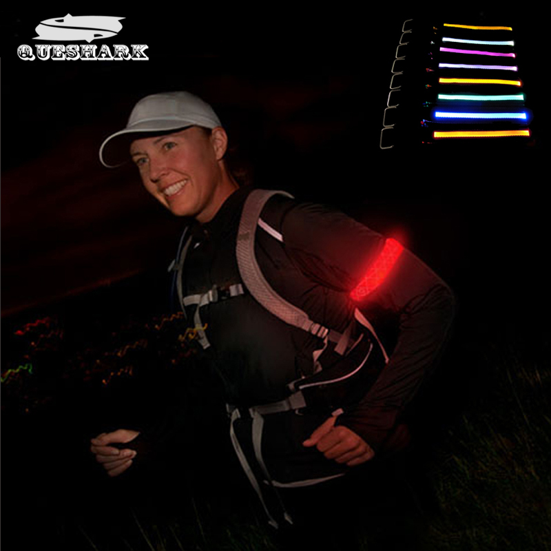 Led Cycling Arm Warmmers Night Riding Running Glowing Bracelets Wrist Wraps Camping Flashing Warning Wristbands Sports Armband