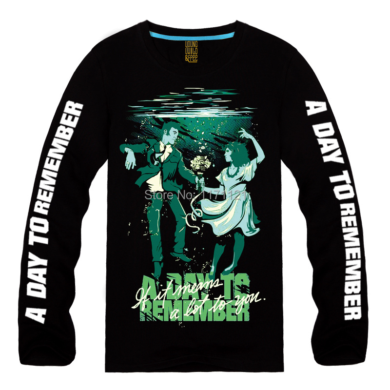 A DAY TO REMEMBER Homesick Retro Rock Melodic death nuclear Mens New Long sleeve T-shirtОдежда и ак�е��уары<br><br><br>Aliexpress