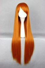 MCOSER 80cm Long EVA-Asuka Orange Cosplay Costume Wig(China (Mainland))