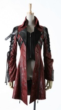 Punk Rave Gothic  Man-made Leather Rock studded  Cotton Jacket Coat Streampunk HoodieLot S-3XL(China (Mainland))