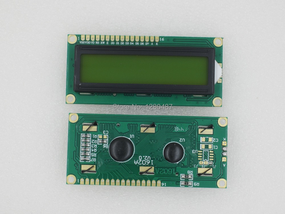 Free Shipping 1pcs LCD1602 LCD 1602 yellow screen with backlight LCD display 1602A 5v