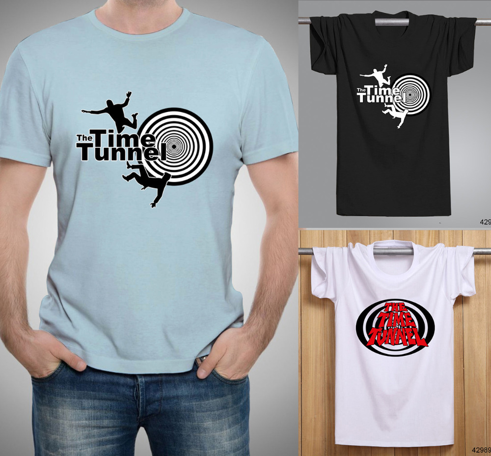 Popular Science Fiction TV Series The Time Tunnel Men T Shirts Short Sleeve fashion Round Neck Male t-shirts Casual Shirt(China (Mainland))