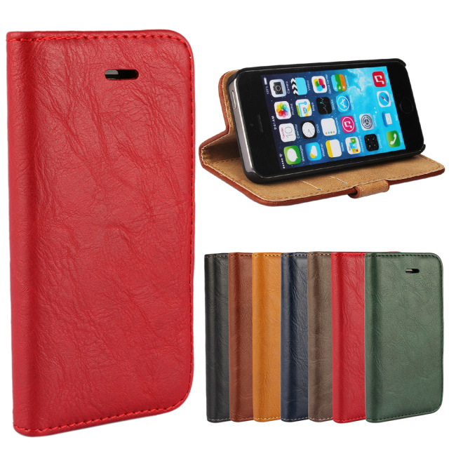 Bark Pattern Wallet Case For iPhone 5 5s 5G New arrival Retail Mobile Flip Phone Bag Cover For iPhone 5 5s 5g Classic color(China (Mainland))