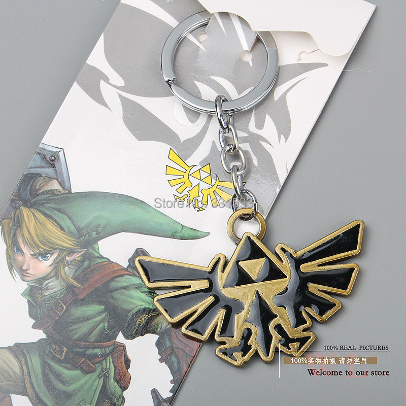 Legend Zelda Keychains Key Chain Metal Pendants Ring ANPD1205 - WXY-TOY LTD store