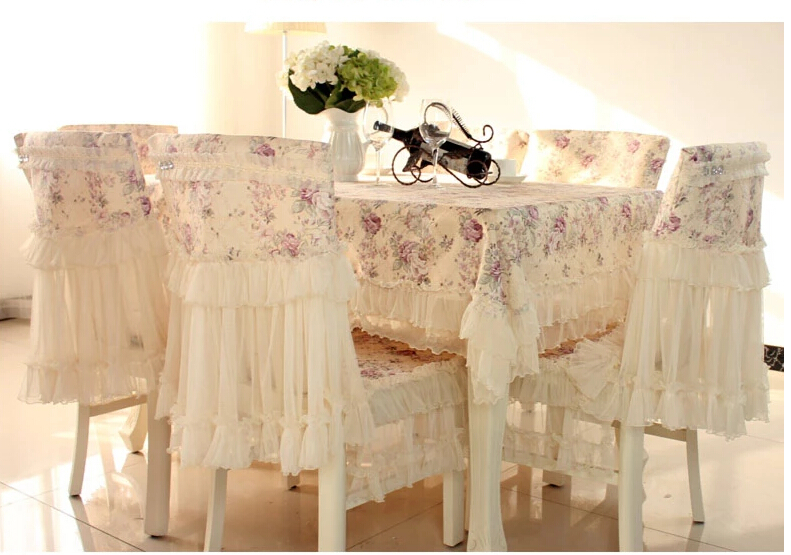 European tablecloth chair cover rural tea table cloth round table chair cushion suit chair cover Tablecloths(China (Mainland))