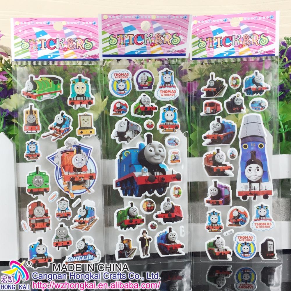1000Sheets /lot Cute Puffy Sticker Kids Girls Boys Thomas Cars Princess Flower Super Hero Cartoon Toys for children<br><br>Aliexpress
