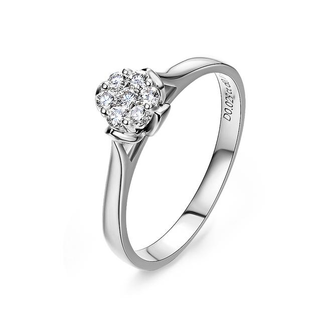 Flynni estrella brillante mosaico de lujo 18 K oro venta al por mayor anillos de compromiso