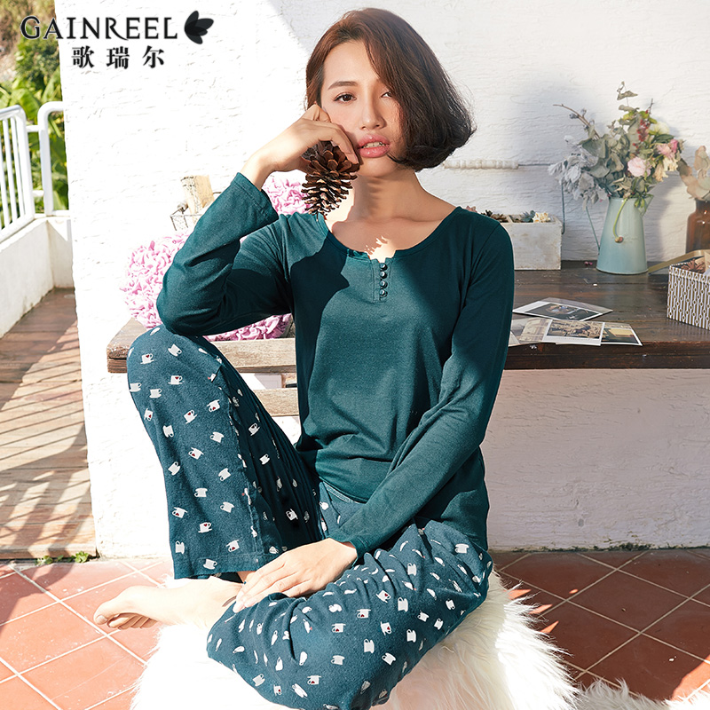 2015 Dongkuan song Riel fashion printed women casual sports tracksuit suit pajamas quiet Yadan