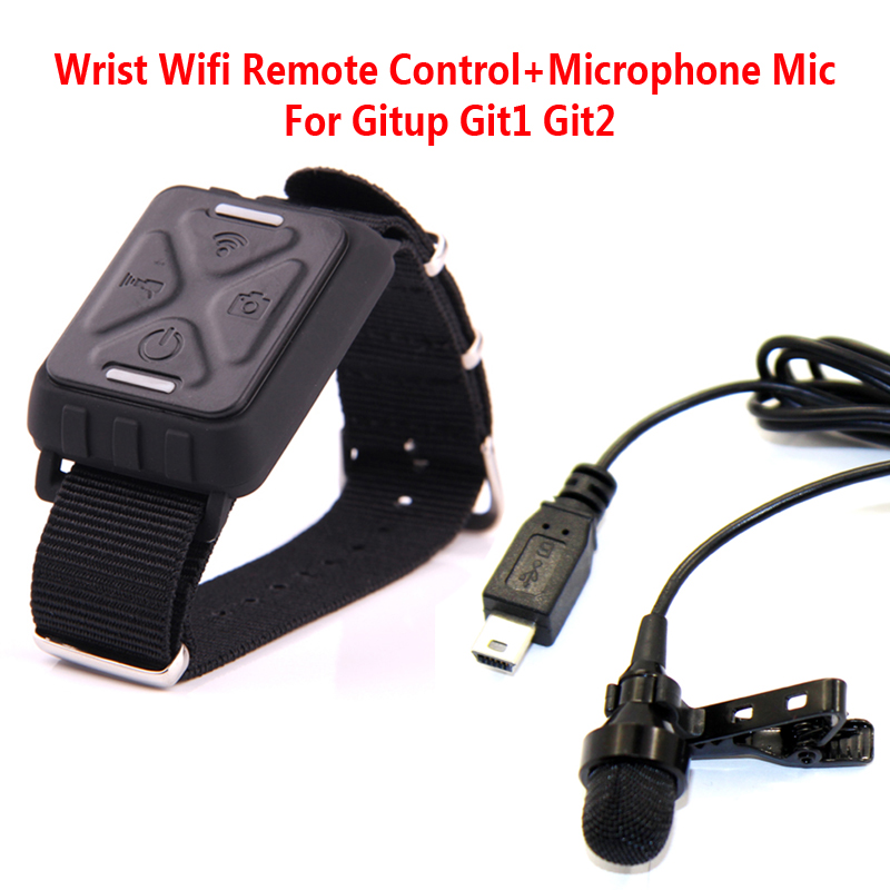 Free Shipping!!Wrist Wifi Remote Control+Microphone Mic For Gitup Git1 Git2 Sports Helemet Action Camera<br><br>Aliexpress