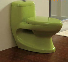 Bathroom ceramic one-piece toilet  multicolour fashion washdown all-in-one closestool 200mm waste pipe rough-in(China (Mainland))