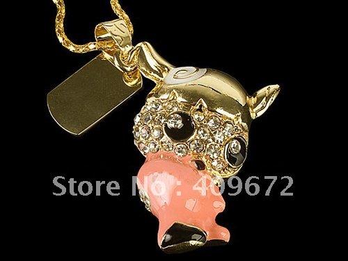 genuine 2G 4G 8G 16G 32G usb flash memory stick usb flash drive jewelry horn baby Free shipping wholesale 10pcs/lot(China (Mainland))