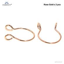 למעלה 2 pcs 20G גמיש U מזויף האף טבעת חישוק מחץ טבעות נירוסטה האף פירסינג מזויף פירסינג ם pircing גוף תכשיטים(China)