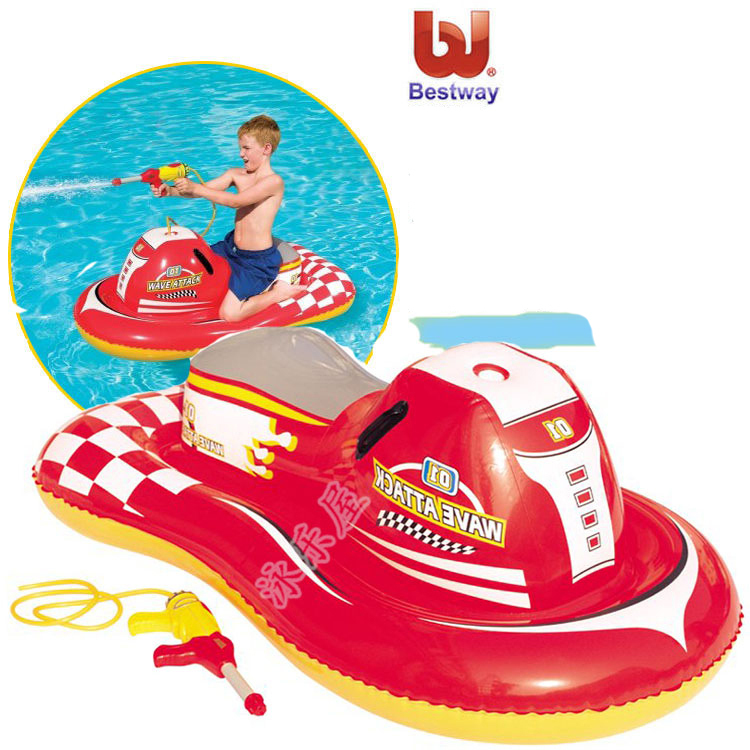 2015 kids water inflatable car swim ring red  children pool float Air Mattresses inflatable flamingo Water gun Motorcycle boats (China (Mainland))