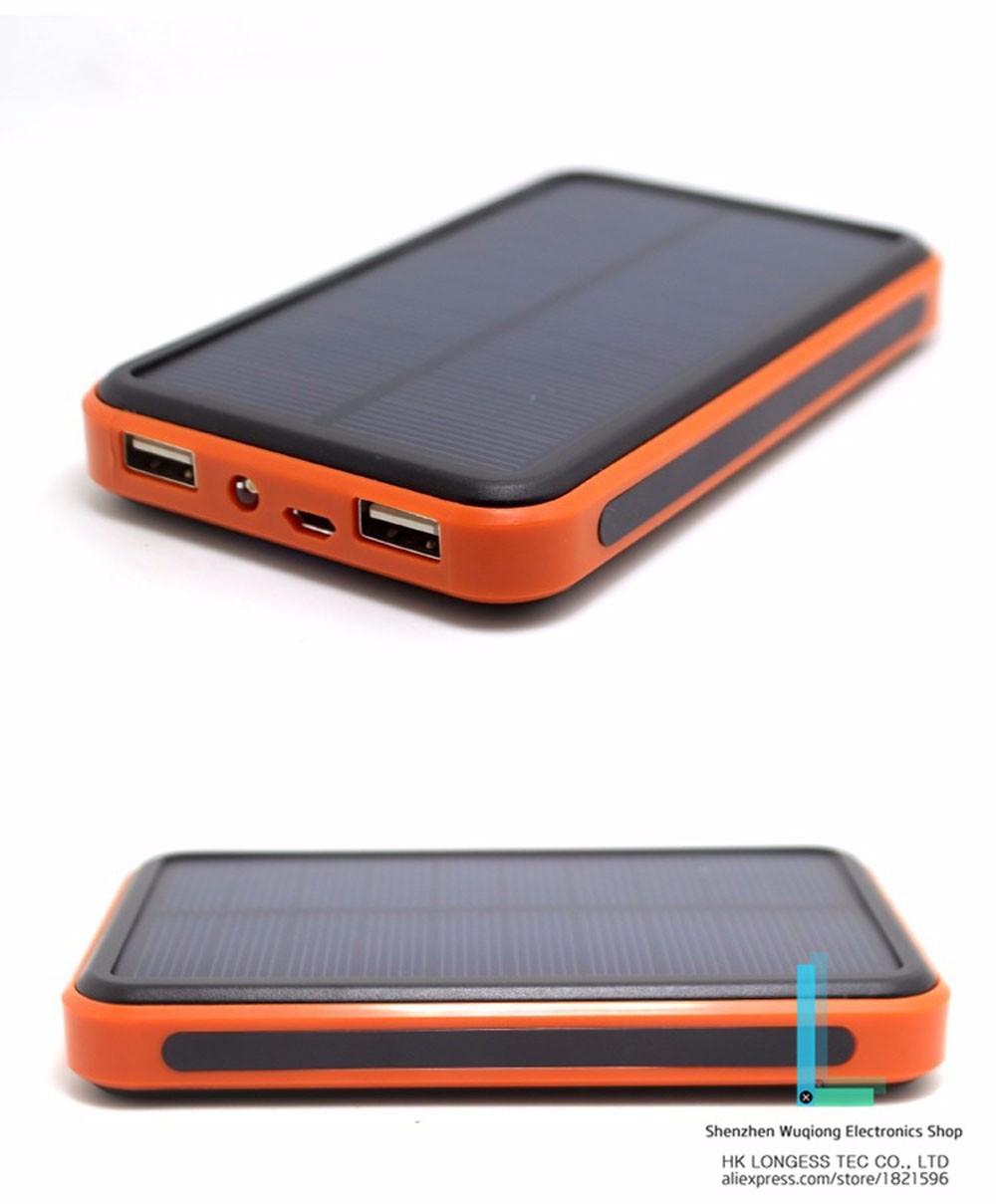 10000 mah Dual usb Waterproof solar power bank PowerCore bateria externa Portable solar charger powerbank for xaomi mobile phone(China (Mainland))